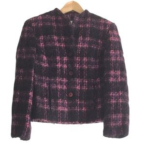 Vintage CONRADC Collection Mohair Wool Blend Pink Jacket Size 8 Made in Canada